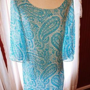 Lilly Pulitzer Silk Paisley Shell Print Dress 8